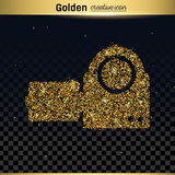 Icône de vecteur de scintillement d'or Image stock