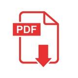 Icône de vecteur de téléchargement de PDF illustration libre de droits