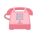 Icône de vecteur de téléphone de bureau Photographie stock libre de droits