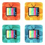 Icône de vecteur de TV Photographie stock