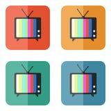 Icône de vecteur de TV Photo stock