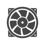 Icône de vecteur de ventilateur d'extraction illustration libre de droits