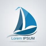 Icône de vecteur de yacht illustration stock