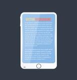 Icône de vecteur et brillant mobiles Image libre de droits