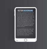 Icône de vecteur et brillant mobiles Image stock