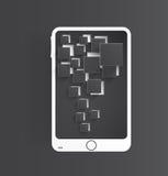 Icône de vecteur et brillant mobiles Photo libre de droits