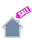 Icône de vente à la maison Photographie stock libre de droits