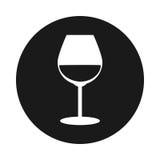 Icône de verre à vin Image libre de droits