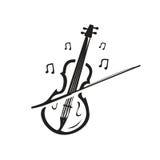 Icône de violon Photographie stock