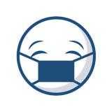 Icône de visage d'émoticône illustration de vecteur