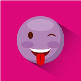 Icône de visage d'émoticône illustration stock