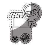 icône de voiture de hot-dog Image libre de droits