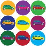 Icône de voiture, illustration de vecteur Style plat de conception Images libres de droits