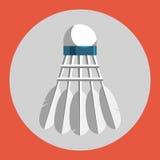 Icône de volants de badminton Volants colorés de badminton sur un fond rouge le ski d'illustration de matériel de coloration folâ Image libre de droits