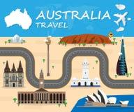 Icône de voyage d'Australie Vecteur d'icône de voyage art d'icône de voyage Trav illustration libre de droits