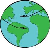 Icône de voyage de la terre de planète Photo libre de droits