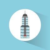 Icône de voyage de point de repère de bâtiment Photos libres de droits