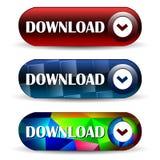 Icône de Web de barre de téléchargement Photo libre de droits