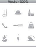 Icône de Web de collection de vecteur. Placez le pictogramme Images stock