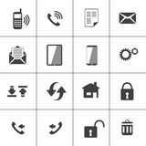 Icône de Web de contact et de dispositif illustration de vecteur