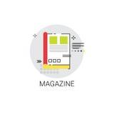 Icône de Web de journal d'application de bulletin d'information de magazine Photos stock