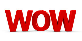 Icône de wow Photographie stock