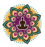 Icône de yoga Photos stock