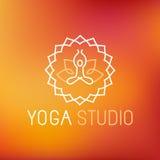 Icône de yoga de vecteur Images stock