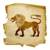 Icône de zodiaque de lion Photo libre de droits