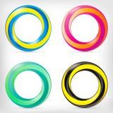 Icône dimensionnelle ronde de forme d'infini Photographie stock