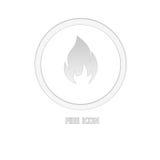 Icône du feu Image stock