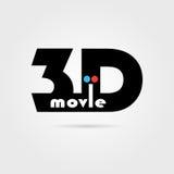 icône du film 3d avec l'ombre illustration libre de droits