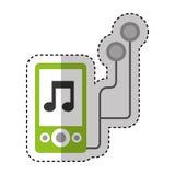 Icône du lecteur de musique Mp3 Photos stock