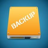Icône dure de lecteur de disques de sauvegarde des données portative illustration de vecteur