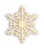 Icône en bois de flocon de neige Image stock