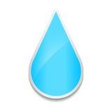 Icône en cristal de baisse de l'eau Autocollant sur le fond blanc illustration de vecteur