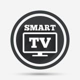 Icône en format large de signe de Smart TV Téléviseur Image libre de droits