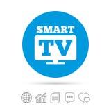 Icône en format large de signe de Smart TV Téléviseur Photos libres de droits