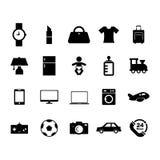 Icône en ligne de boutique Photographie stock libre de droits