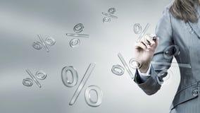 Icône en verre de pour cent Image stock