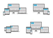 Icône entièrement sensible de web design dans le posi différent Images stock