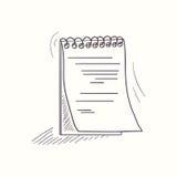 Icône esquissée de bureau de carnet illustration libre de droits