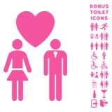 Icône et bonification plates de vecteur de personnes d'amour Photo libre de droits