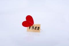 Icône et liberté de coeur Photographie stock libre de droits