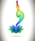 Icône et vague colorées abstraites de livre de fond Photo stock