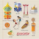Icône et voyage de Bangkok Thaïlande Photos stock