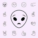 ic?ne extraterrestre ?tonn?e Ensemble universel d'ic?nes d'Emoji pour le Web et le mobile illustration libre de droits