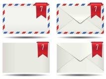 Icône fermée d'alerte de boîte aux lettres Photos stock
