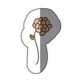 icône florale de fleur colorée d'autocollant Images libres de droits