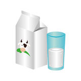 Icône fraîche de boîte à lait Image libre de droits